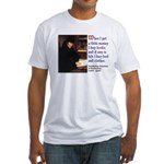Erasmus on Buying Books Fitted T-Shirt
