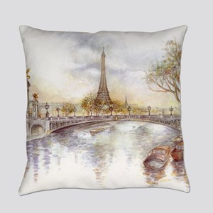 Eiffel Tower Painting Everyday Pillow