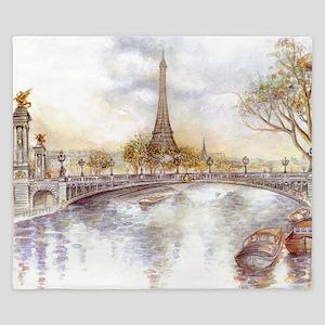 Eiffel Tower Painting King Duvet