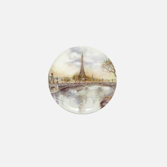 Eiffel Tower Painting Mini Button