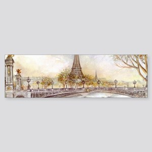 Eiffel Tower Painting Bumper Sticker