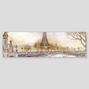 Eiffel Tower Painting Bumper Sticker
