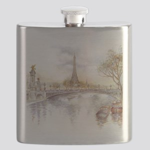 Eiffel Tower Painting Flask