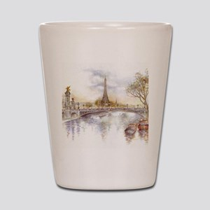 Eiffel Tower Painting Shot Glass