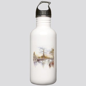 Eiffel Tower Painting Sports Water Bottle