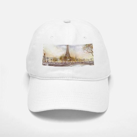 Eiffel Tower Painting Baseball Baseball Cap