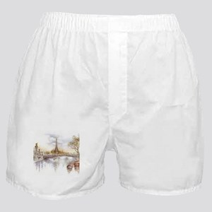 Eiffel Tower Painting Boxer Shorts