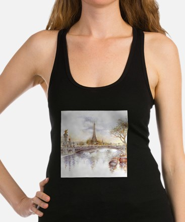 Eiffel Tower Painting Racerback Tank Top