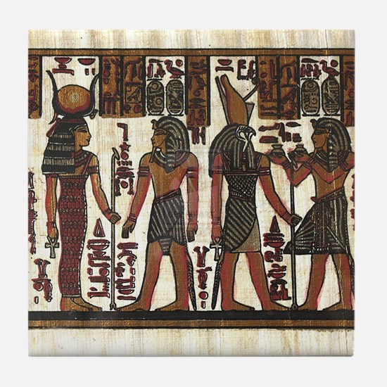 Ancient Egyptians Tile Coaster
