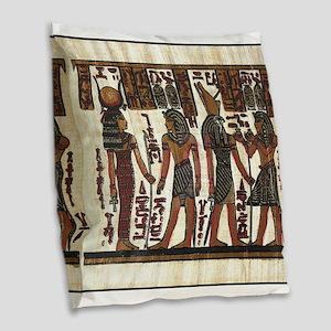 Ancient Egyptians Burlap Throw Pillow