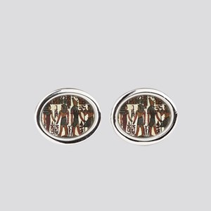 Ancient Egyptians Oval Cufflinks