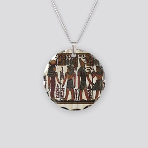 Ancient Egyptians Necklace Circle Charm