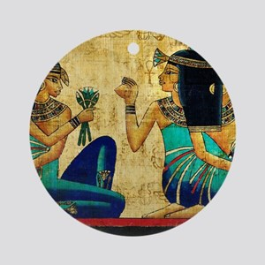 Egyptian Queens Round Ornament