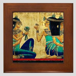 Egyptian Queens Framed Tile