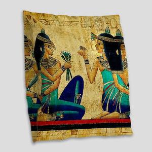 Egyptian Queens Burlap Throw Pillow