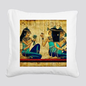 Egyptian Queens Square Canvas Pillow