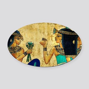 Egyptian Queens Oval Car Magnet