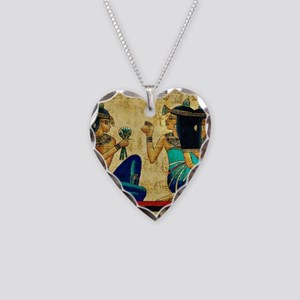 Egyptian Queens Necklace Heart Charm