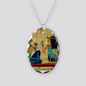 Egyptian Queens Necklace Oval Charm