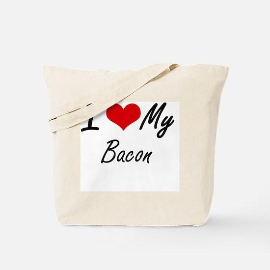 I Love My Bacon Tote Bag