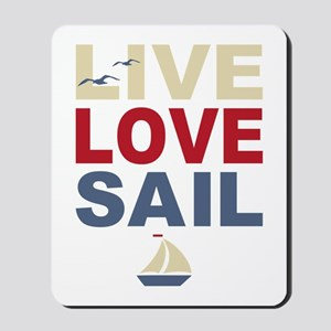 Live Love Sail Mousepad