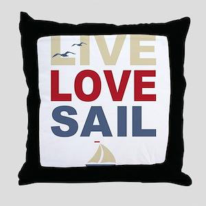 Live Love Sail Throw Pillow