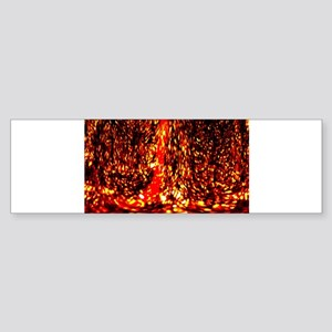 Fire Dance Bumper Sticker