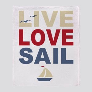 Live Love Sail Throw Blanket