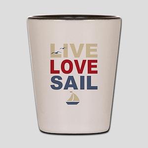 Live Love Sail Shot Glass