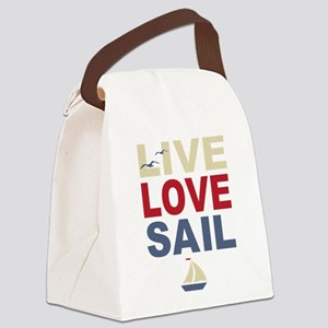 Live Love Sail Canvas Lunch Bag