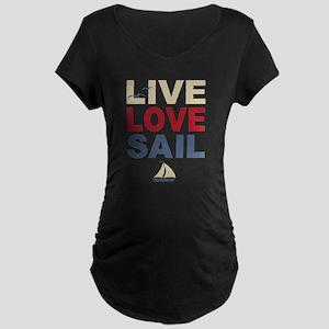 Live Love Sail Maternity Dark T-Shirt