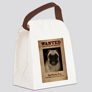The Plucky Pug Canvas Lunch Bag