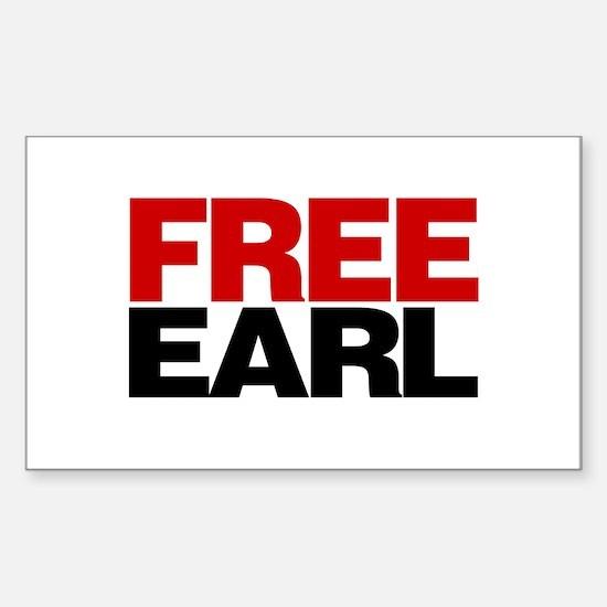 Free Earl Rectangle Decal