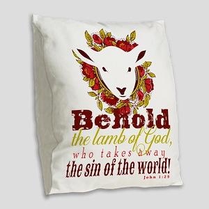 Lamb of God Burlap Throw Pillow