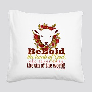 Lamb of God Square Canvas Pillow