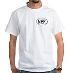 Ner Oval Men's White T-Shirt