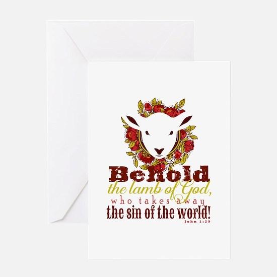 Lamb of God Greeting Cards