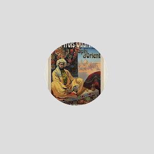Vintage poster - Aux Trois Quartiers Mini Button