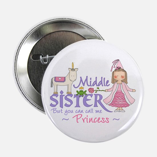 Unicorn Princess Middle Sister Button
