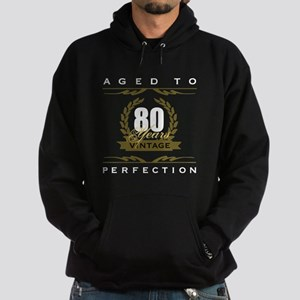 Vintage 80th Birthday Hoodie (dark)