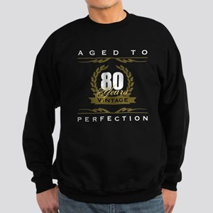 Vintage 80th Birthday Sweatshirt (dark)