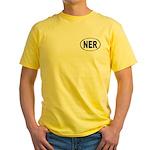 Oval Front/sea Logo Back Men's Yellow T-Shirt