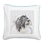Bearded Collie Square Canvas Pillow