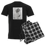 Bearded Collie Men's Dark Pajamas