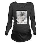 Bearded Collie Long Sleeve Maternity T-Shirt