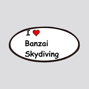 I Love Banzai Skydiving Patch