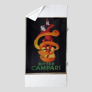 Vintage poster - Bitter Campari Beach Towel