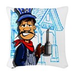 Vintage Engineers Woven Throw Pillow