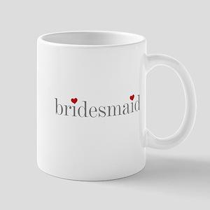 Gray Text Bridesmaid Mug