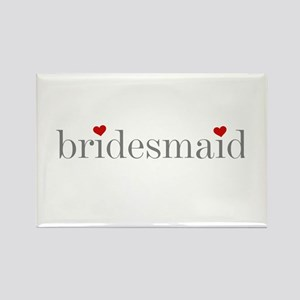 Gray Text Bridesmaid Rectangle Magnet